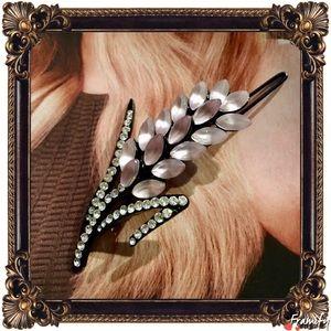 Accessories - Fashion Lavender Rhinestone Crystal Hair Clips